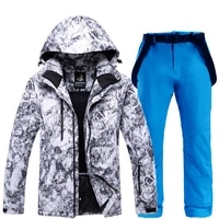 outdoor men ski suit super warm jackets set winter snow pants suits male skiing snowboarding clothes sets skiing jackets pants