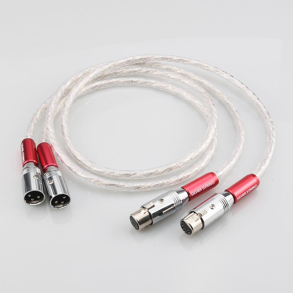 Par AS220 interconexión XLR cable 6N de plata cable de Audio y...