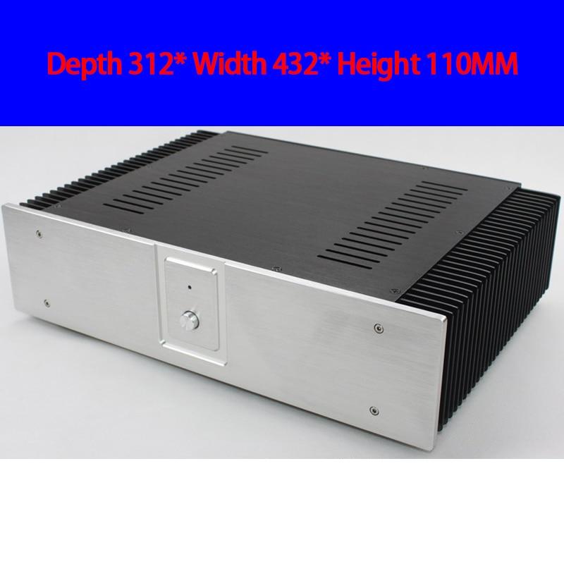 KYYSLB-مضخم صوت من الألومنيوم بالكامل ، صندوق هيكل لمكبر الصوت ، 312 × 432 × 110 مللي متر CJ052 ، الفئة A ، DIY