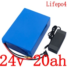 24V LiFePO4 batterie 24v 20ah Lithium batterie pack 500W 700W 24V 20AH vélo électrique batterie avec 30A BMS + 29.2V 3A chargeur