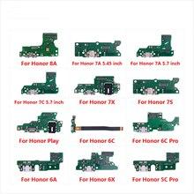 شحن ميناء موصل مجلس الكابلات المرنة لهواوي الشرف اللعب 8A 7A 7C 7X 7S 6A 6C 6X 5C برو مع ميكروفون ميكروفون إصلاح أجزاء
