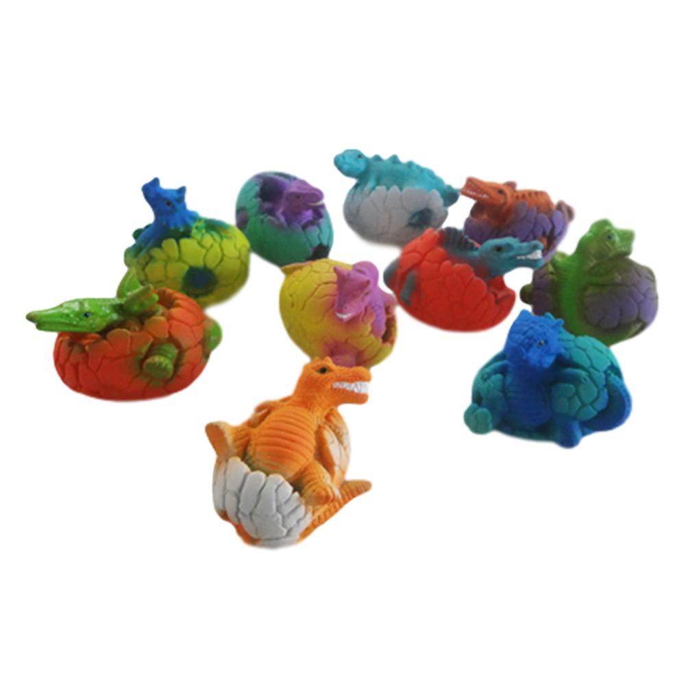 1 pc vinil dinossauro boneca crianças brinquedo de água de banho trompete simulação dinossauro modelo decoração cor aleatória
