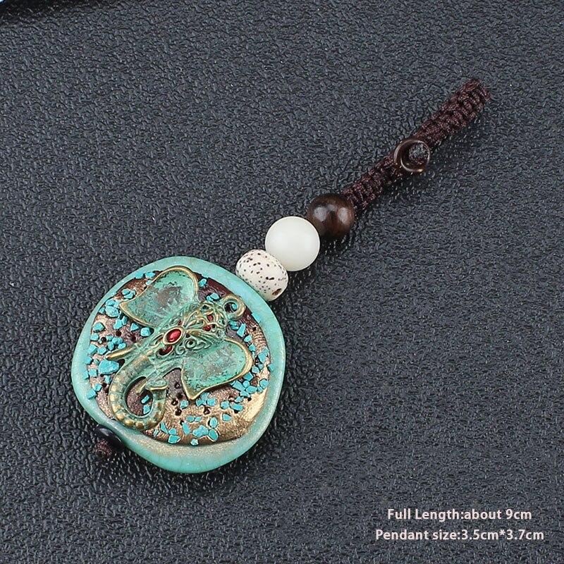 Антикварные Бронзовые брелки и брелки, винтажный слон Ом АУМ Будда, подвеска, брелок, автомобильный брелок, брелок для ключей, ювелирные изделия для йоги