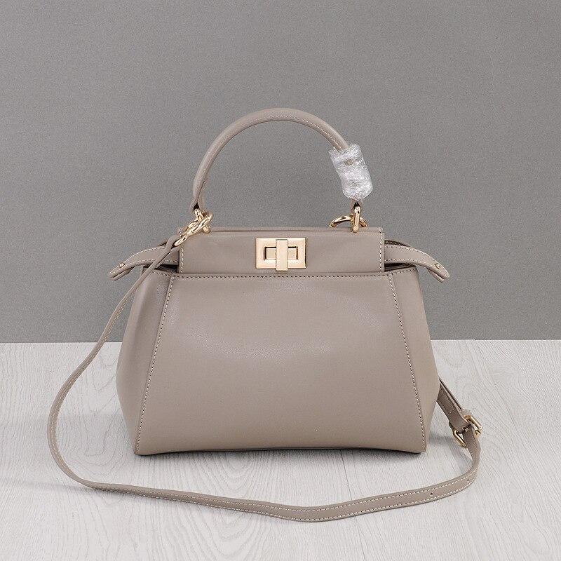 Genuine Leather Handbags Messenger Bag Small Bridal Crossbody Luxury Brand Handbag 2021 Female