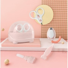 4 Pieces / Set Of Baby Nail Care Set Cartoon Set Box Safe Cleaning Tweezers Baby Nail Clippers Nail