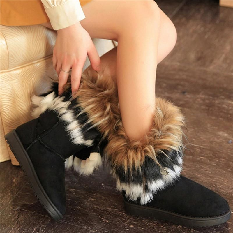2021 Winter New Products Women Fashionable Suede Cheese Snow Boots Cotton Shoes Warm Comfortable Lei