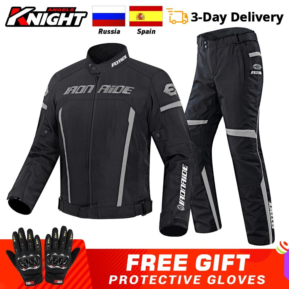 Motorcycle Jacket Pants Suit Waterproof Gear Reflective Racing Jacket Biker Motorbike Motocross Moto Jacket Motorcycle Clothing