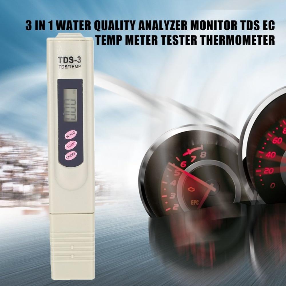TDS Измеритель Тестер Портативный Ручка Цифровой 9999pm Высокий Точный Фильтр Измерение Вода Чистота Качество Монитор Детектор