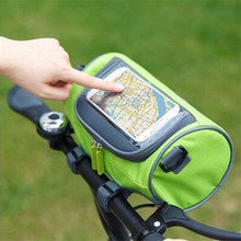 Multifunctional riding bag mountain road bike touch screen bag frame tube handlebar bag riding stora