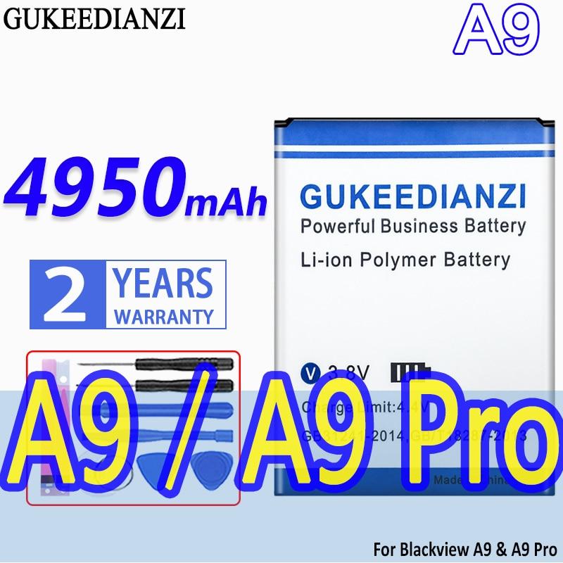 GUKEEDIANZI de alta capacidad de la batería A9 4950mAh para Blackview A9...
