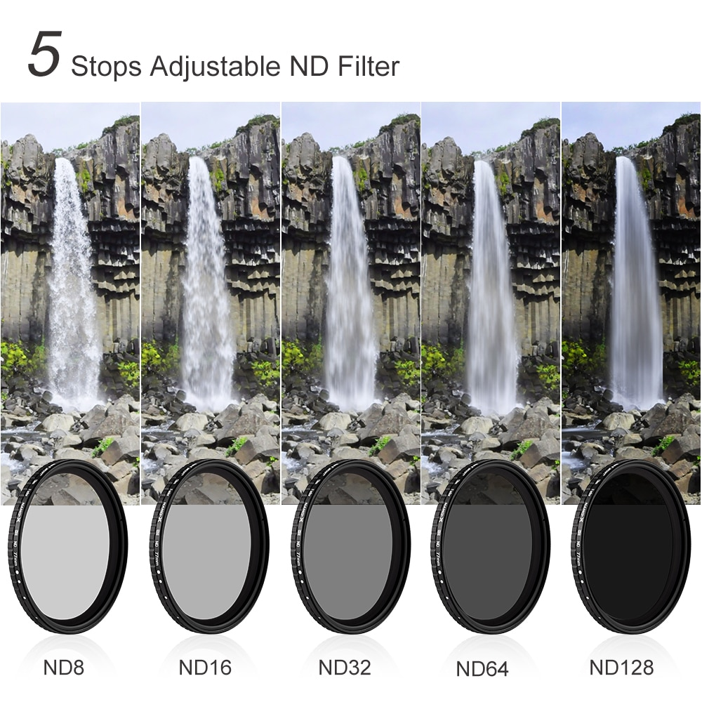 Variable Filter 62mm 67mm 72mm 77mm 82mm NO X Spot Fade Neutral Densityr Filter For Canon Nikon Sony Lens enlarge