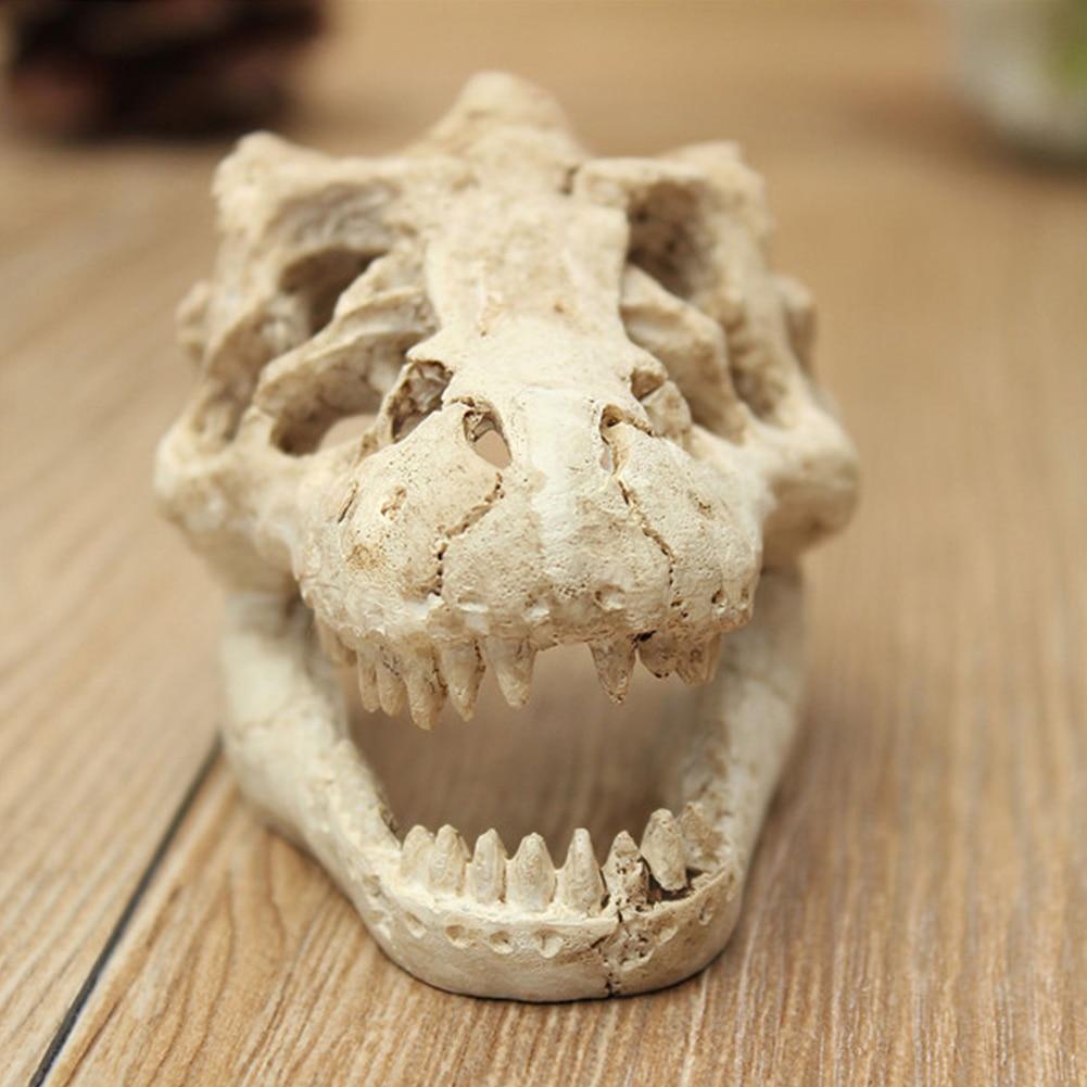 Crocodile Skull Fish Tank Cave Reptile Decoration Aquarium Ornament Halloween