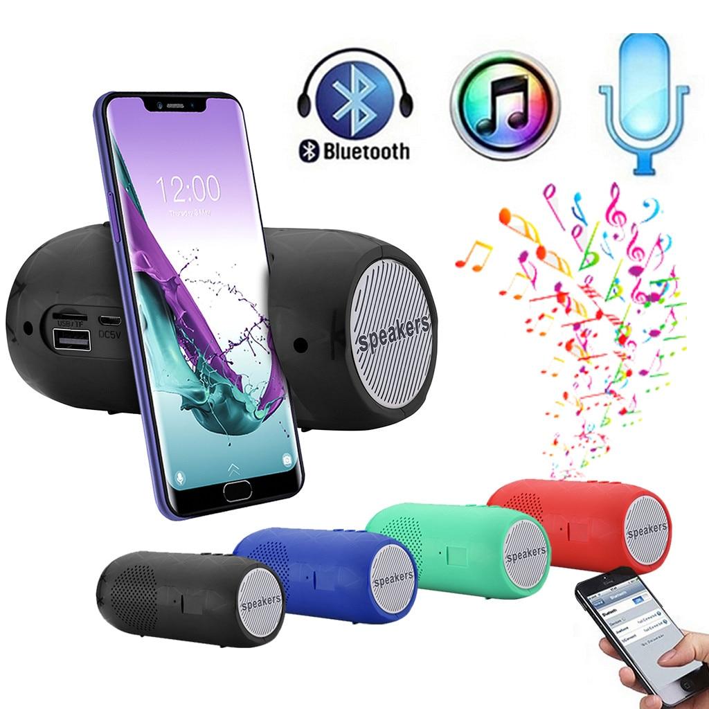 25 # altavoz inalámbrico Portátil con Bluetooth Estéreo barra de sonido TF FM Radio Subwoofer columna altavoces para soporte de teléfonos de ordenador