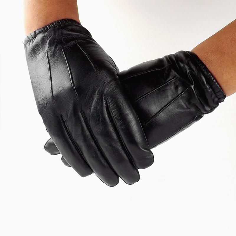 Guantes de cuero resistentes al fuego, guantes de seguridad para montar en bicicleta, guantes de conducción al aire libre para invierno