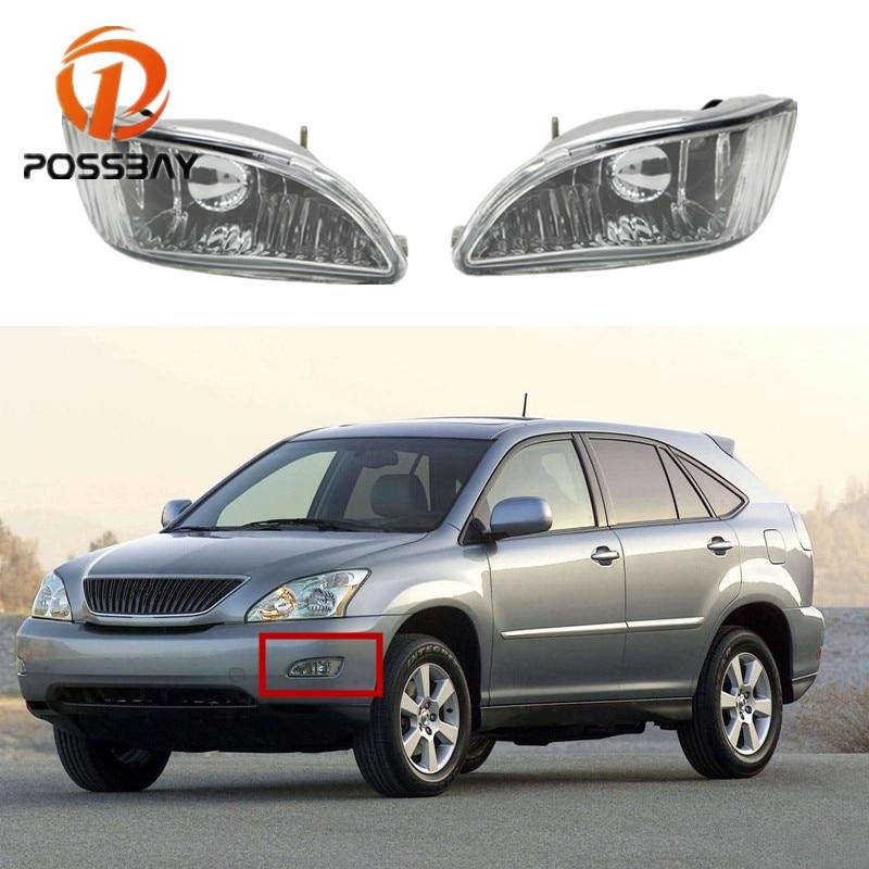 POSSBAY, accesorios para coche, luz antiniebla del parachoques delantero para Lexus RX300 RX330 RX350 2003-2008, lámparas halógenas antiniebla para automóviles