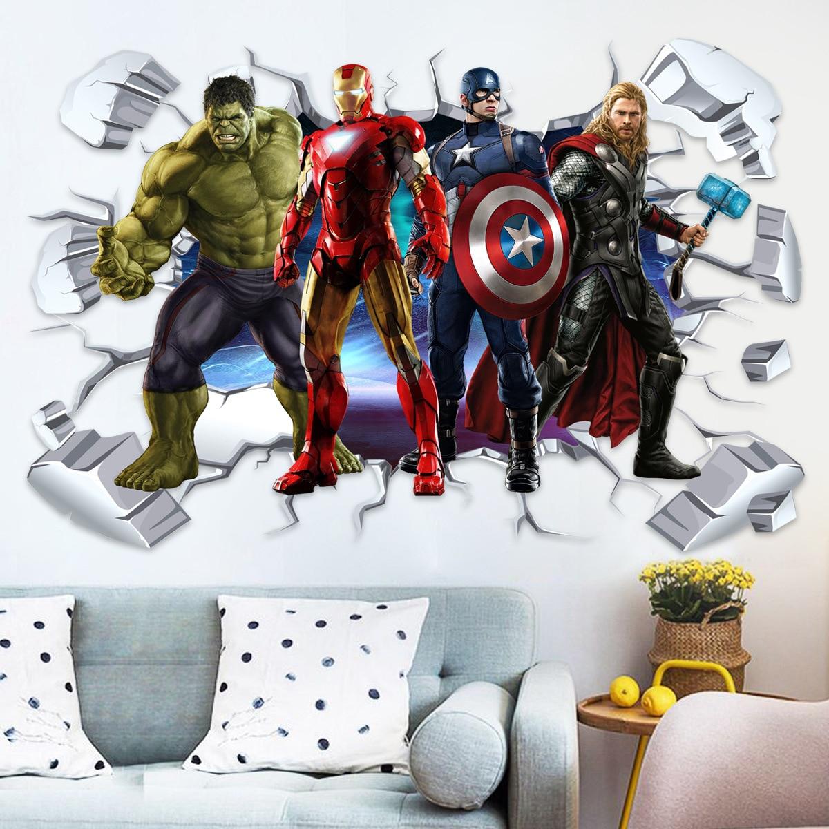 anime-3d-avengers-adesivi-murali-adesivi-murali-marvel-adesivi-decorativi-per-la-camera-dei-bambini-regali-per-amici-o-bambini