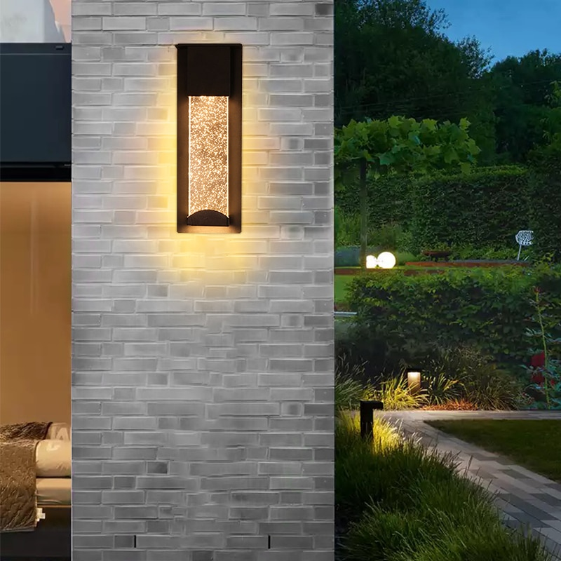 Outdoor Waterproof Wall Light European Luxury Crystal Bubble LED Wall Lamp for Porch Corridor Villa Hotel Exterior Wall Lamps enlarge