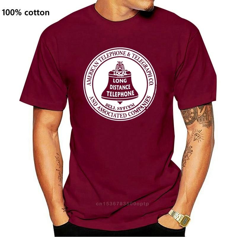 New Men Short sleeve tshirt Vintage American Telephone and Telegraph Bell System Unisex T Shirt Women t-shirt