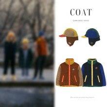 Przedsprzedaż 2020 jesienno-zimowa nowa kurtka TC chłopcy i dziewczęta imitacja Lamb włosy dopasowane kolory chłopcy i dziewczęta płaszcz z guzikami kapelusz
