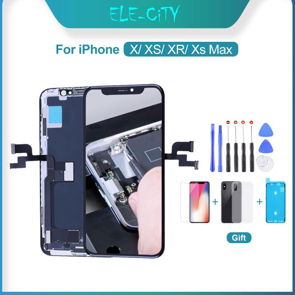 Сменный ЖК-экран ELEKworld, для iPhone X, XR, XS Max, OLED, с 3D сенсорным дигитайзером в сборе