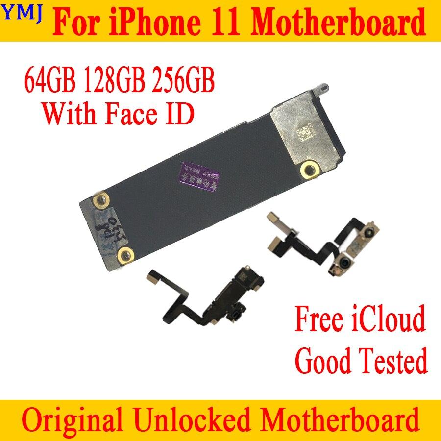 Placa base Original desbloqueada para iPhone 11 64GB 128GB 256GB placa lógica para iPhone 11 Placa base con/sin placa de identificación facial
