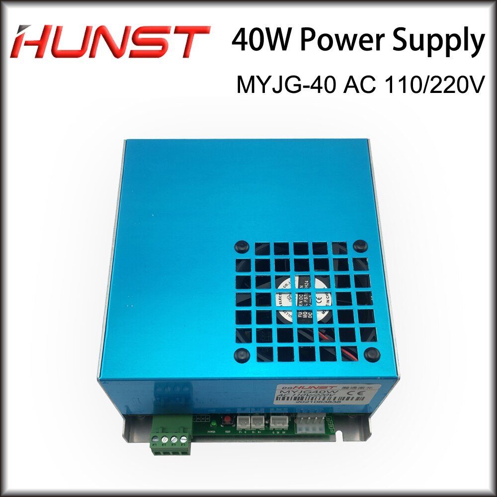 Hunst 40W CO2 Laser Power Supply 110V/220V for Laser Tube Engraving Cutting Machine MYJG 40WT Model B MYJG