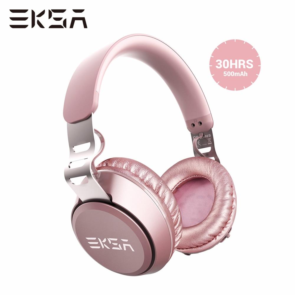 EKSA اللاسلكية سماعة رأس بمايكروفون E100 بلوتوث متوافق سماعة المحمولة HIFI سماعات ستيريو يدوي للهاتف