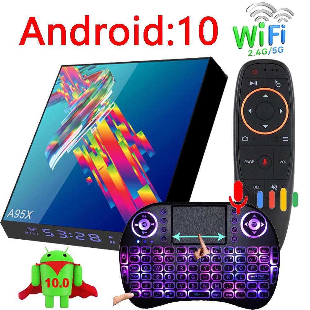 A95X R3 Plus صندوق التلفزيون الذكية أندرويد 10 6k 2G 16G 4G 32G 64G 2.4G & 5G واي فاي دعم BT يوتيوب رباعية النواة مشغل وسائط صغير