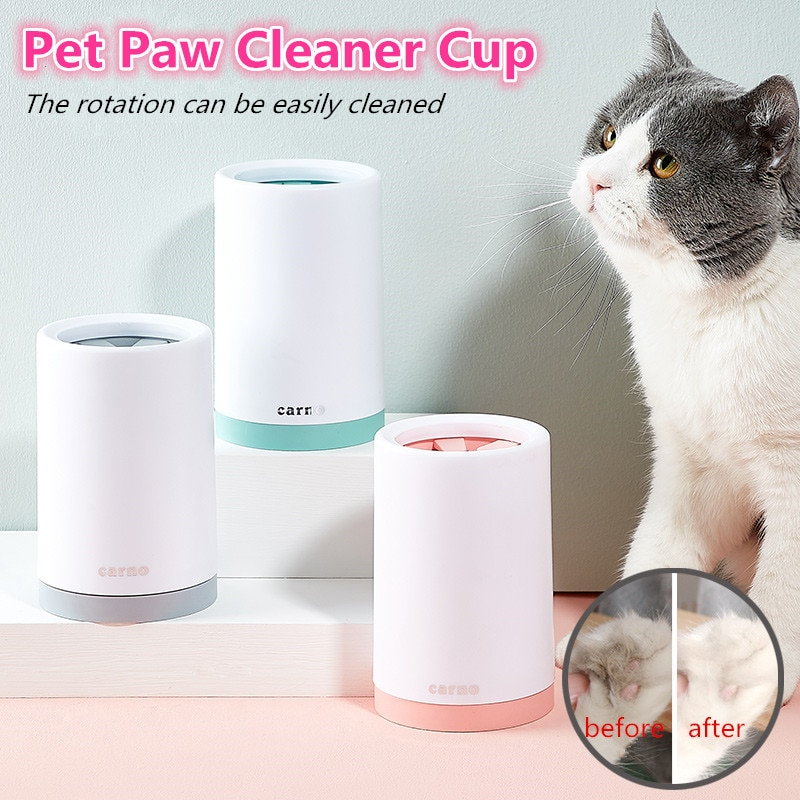 Escova de limpeza para pata de cachorro, pente de silicone macio portátil para animais de estimação, para área externa, limpeza de pata e sujeira balde de balde