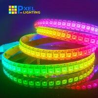 Светодиодная лента WS2815 (обновление ws2812b), RGB Адресуемая Светодиодная лента с двойным сигналом для комнаты, полноцветная умная светильник пол...