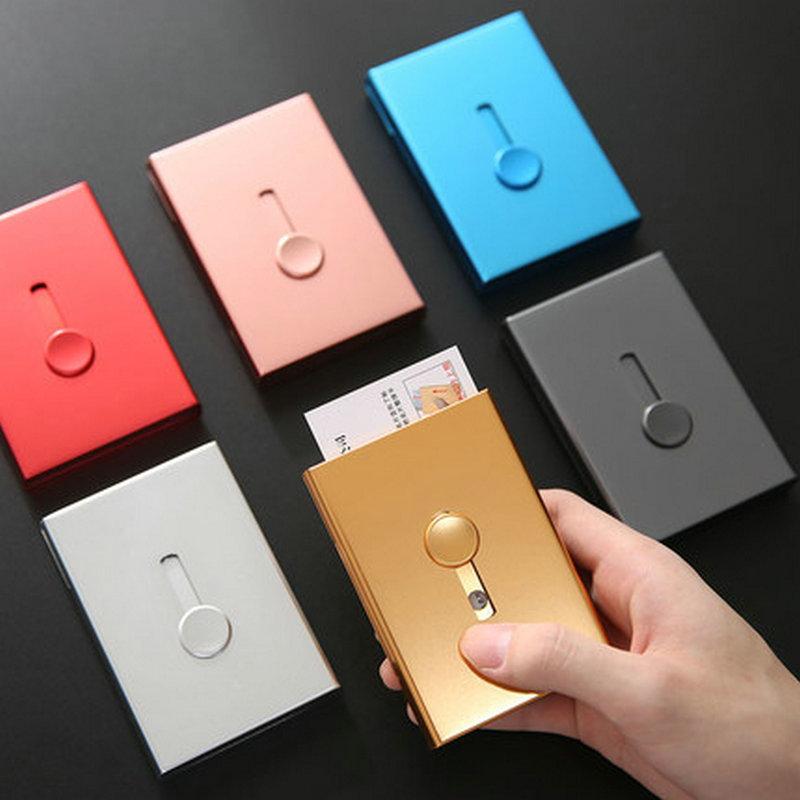 Деловой чехол для кредитных карт, креативный Алюминиевый металлический держатель для визиток, портативный органайзер для визиток для мужч...