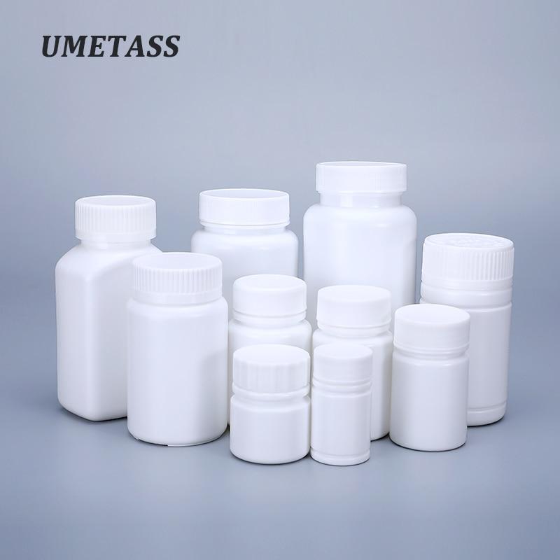 UMETASS 20ml/30ML/40ML/50ML/100ML/150ML/200ml Empty plastic bottle container for Medicine Capsule pill organizer bottle 1PCS