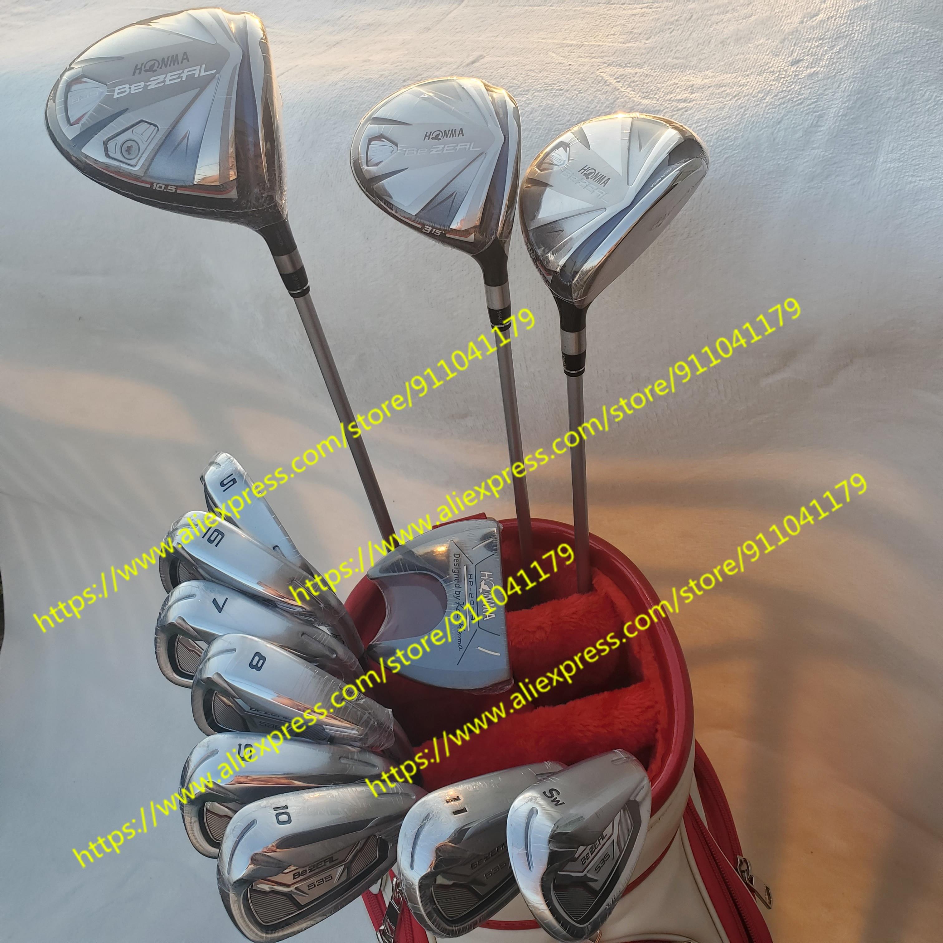 2021 Men's Golf clubs set HONMA Golf Club HONMA BEZEAL 535 Golf Complete Set with wood putter Head Cover (No Bag)