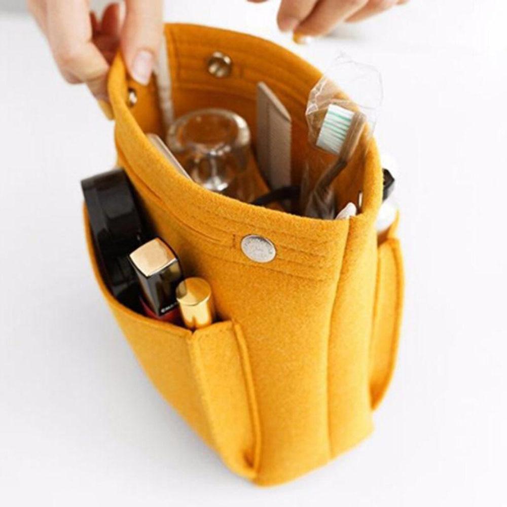 Make up Organizer Felt Insert Bag For Handbag Travel Inner Purse Portable Cosmetic Bags Fit Various Brand Bags Large Capacity