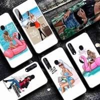 yndfcnb fashion girl phone case for samsung a30s 51 5 71 70 40 10 20 s 31 a7 a8 2018