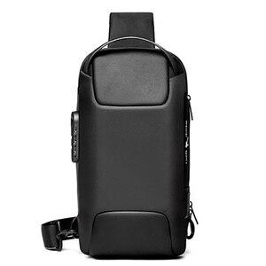 new 2021 chest outside package usb security men chest BaoHu leisure shoulder bag man waterproof oblique satchel male tide
