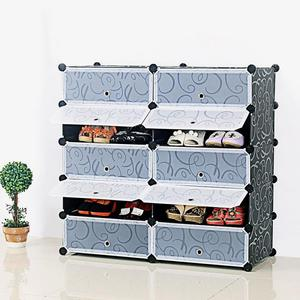 10 doors shoe box storage shoe boxes thickened dustproof shoes organizer box can be superimposed combination shoe cabinet