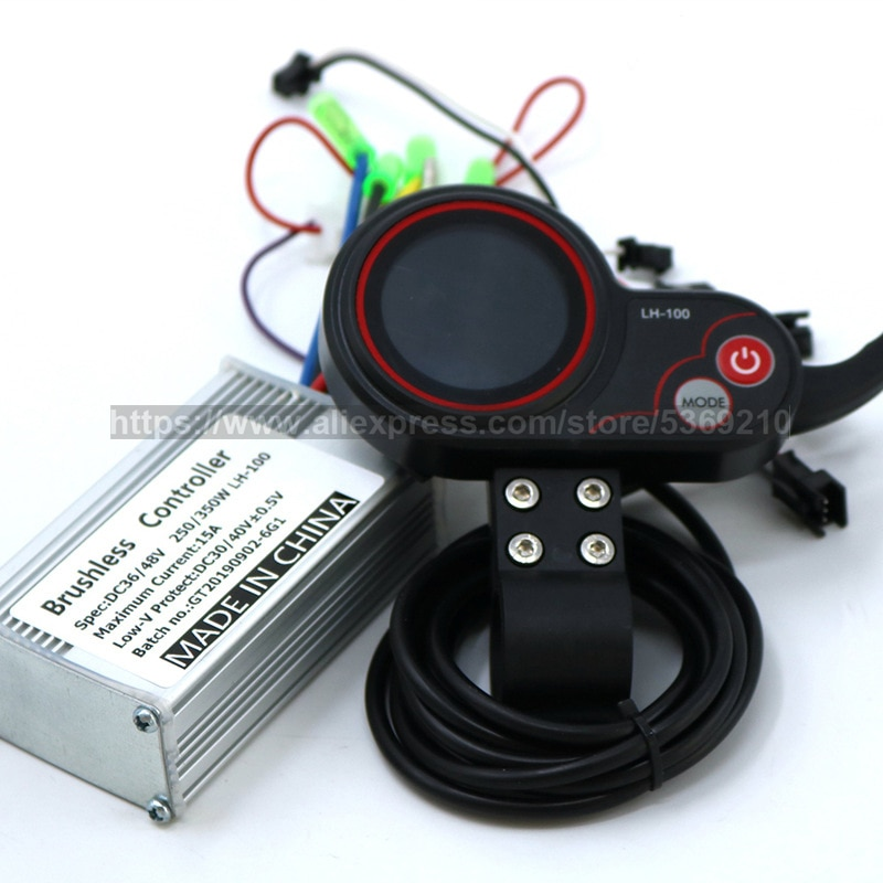 36V 48V 250W 350W Electric Bicycle Controller Waterproof LED LCD Display Brushless Electric Bike E-bike Controller