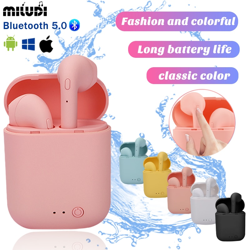 TWS Mini-2 Wireless Headset Bluetooth Earphones Waterproof Music Headphone Sport Earbud Business Hea