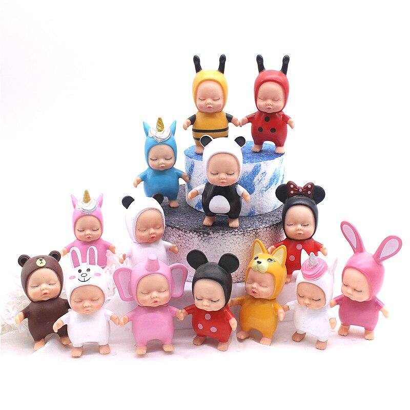 Новые Фигурки спящего ребенка Минни, коричневые медведи, украшения спящих кукол для детей, детские игрушки, детские игрушки