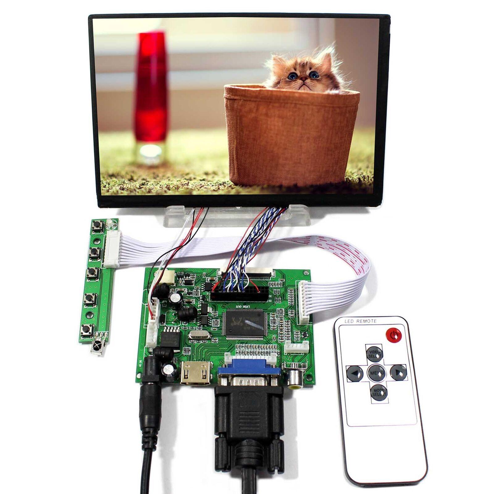 "Yqwsyxl HDMI VGA 2AV remoto controlador LCD de 7 ""pulgadas 1280x800 N070ICG LD1 N070ICG-LD1 IPS LCD Panel"