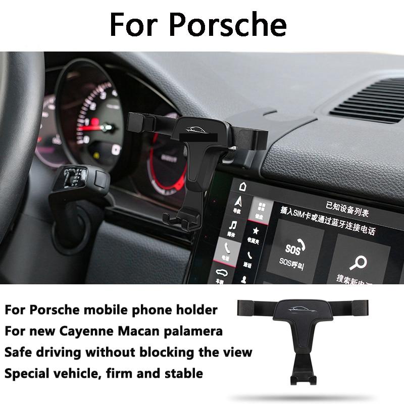 Car Mobile Phone Support Air Vent Mount Bracket Cell Phone Holder for Porsche Macan Cayenne Paramela 718 2017 2018 2016 2020