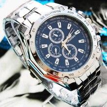 ORLANDO Fashion Mannen Horloges Mannen Sport Horloges Blue Dial Quartz Horloges Rvs heren Horloges relogio masculino