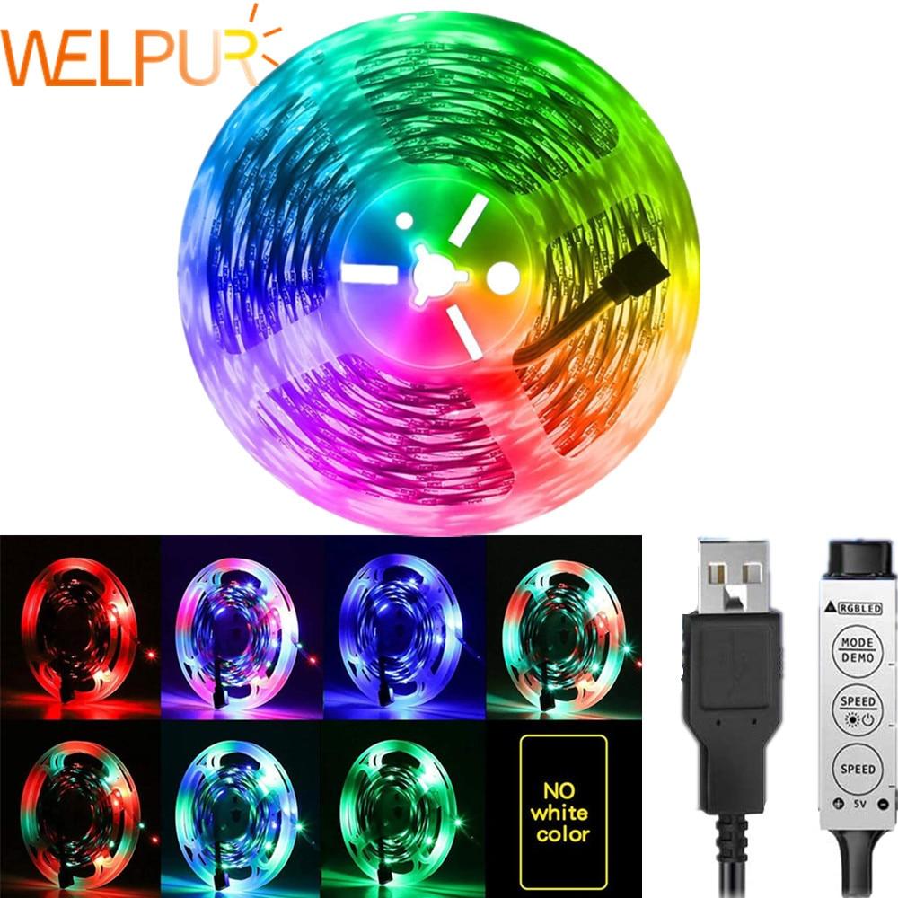 Tira de Luces Led RGB SMD2835, luz de fondo de TV USB...