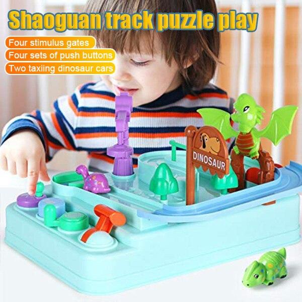 Dinosaurio coche pista juguetes educativos con dinosaurio regalos de cumpleaños, de Navidad para niños AN88