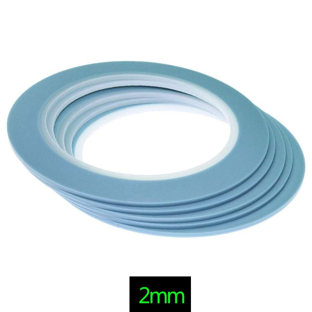 Синяя высокотемпературная ПВХ Виниловая тонкая линия, малярная лента для автомобильных кузовных магазинов, лента Fineline Painter 2 мм x 33 м