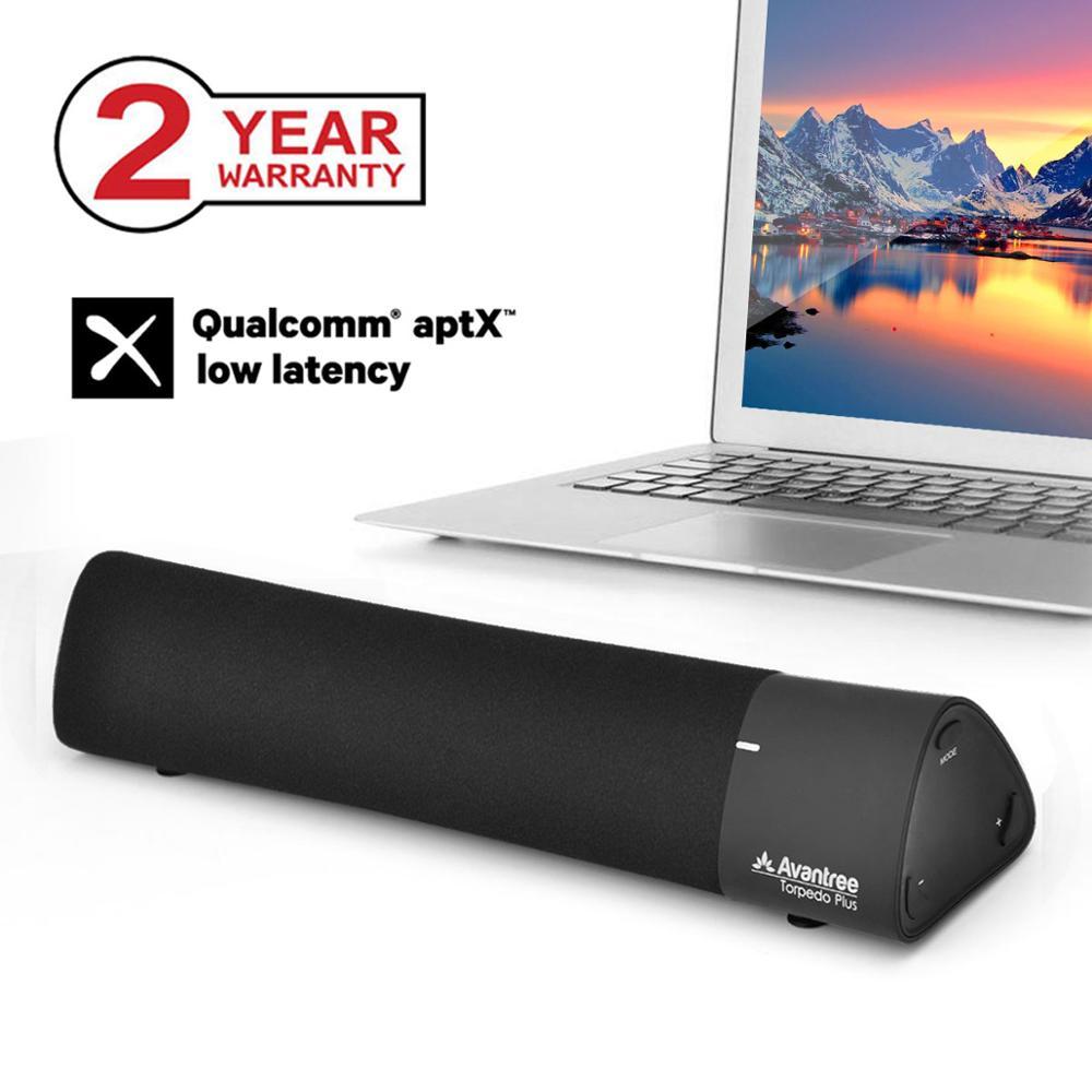 Avantree 10W Aptx altavoces portátiles Bluetooth 4,2 de baja latencia, barra de sonido inalámbrica, Mini barra de sonido Supergraves para juego de TV