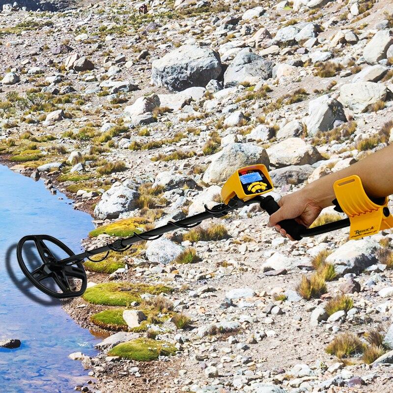 MD6450 للكشف عن المعادن تحت الأرض المهنية البحث عن عمق مكتشف الذهب الكنز هنتر الكشف عن pinمؤشر مقاوم للماء