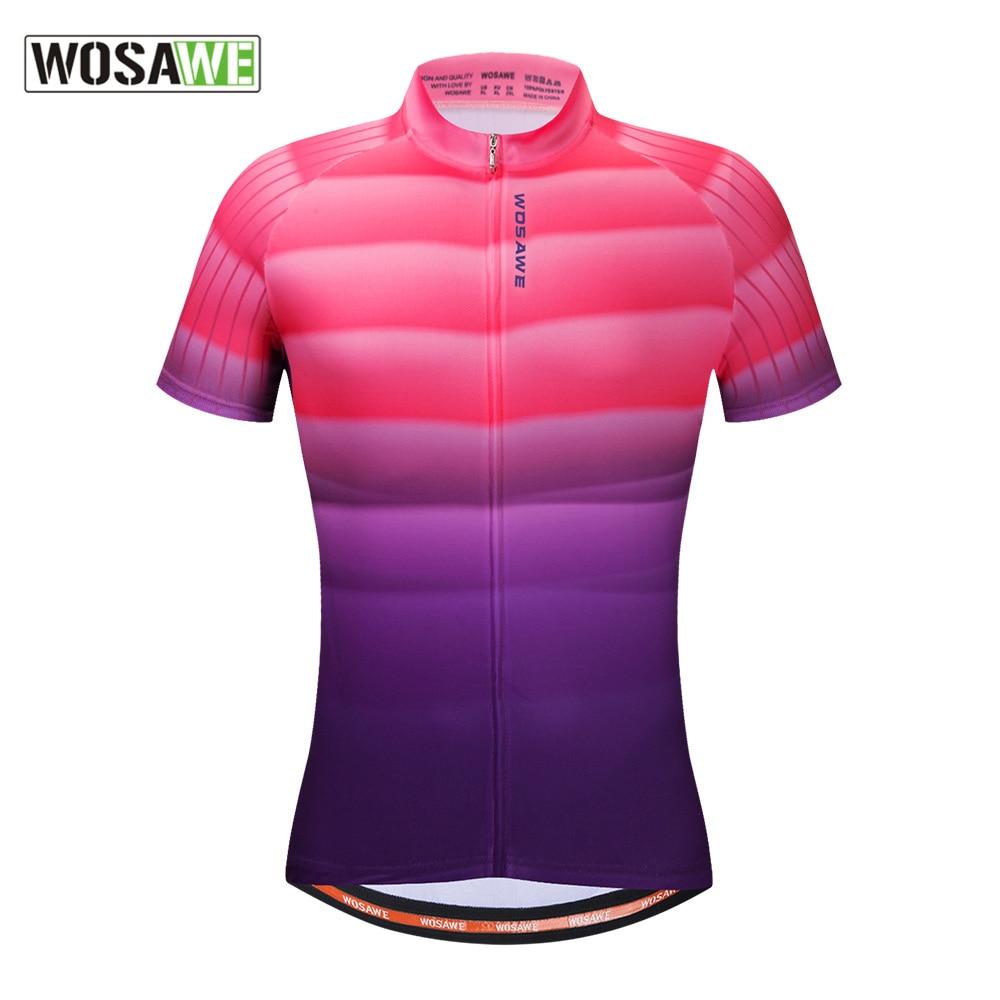 WOSAWE Short-sleeved Shirts Men's Bike Motorcycle Jerseys Mountain Bike Summer Outdoor Sports Breathable Moto Cycling Clothing enlarge