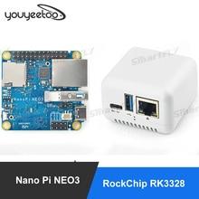 FriendlyElec – Mini carte de développement Nanopi NEO3 (SBC), RK3328, port Ethernet Gigabit, 1 go/2 go de RAM DDR4, OpenWrt/Ubuntu Nanopi NEO2